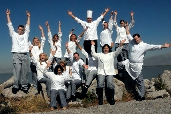 Culinary arts students and faculty