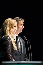 Jennilyn Jessop and President Holland speak at the UVU Scholarship Ball