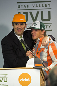 Todd Pedersen with UVU President Matthew S. Holland