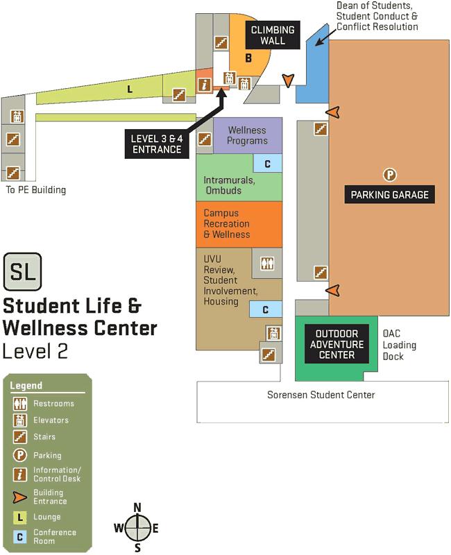SLWC second floor map