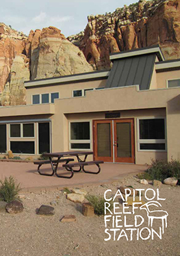 Capitol Reef Field Station In Front of Red Rocks