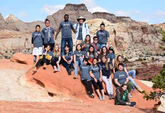 ELL group on red rock