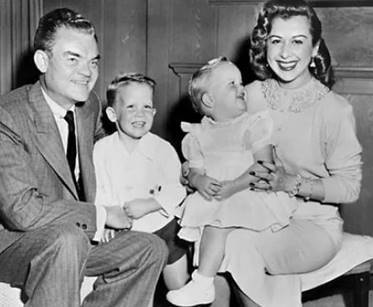 Spike Jones with son Spike Jr., daughter Leslie Ann Jones, and wife Helen Grayco