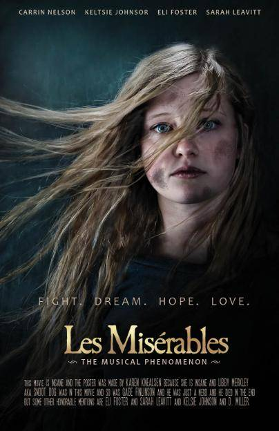 Carrin on her recreation of the Les Miserables movie poster