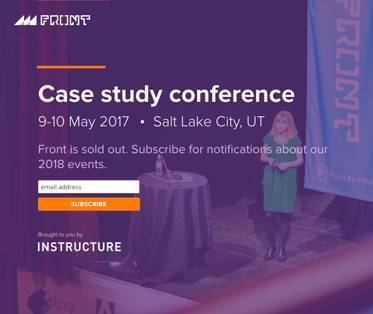 Screenshot of information on Case Study Conference May 2017
