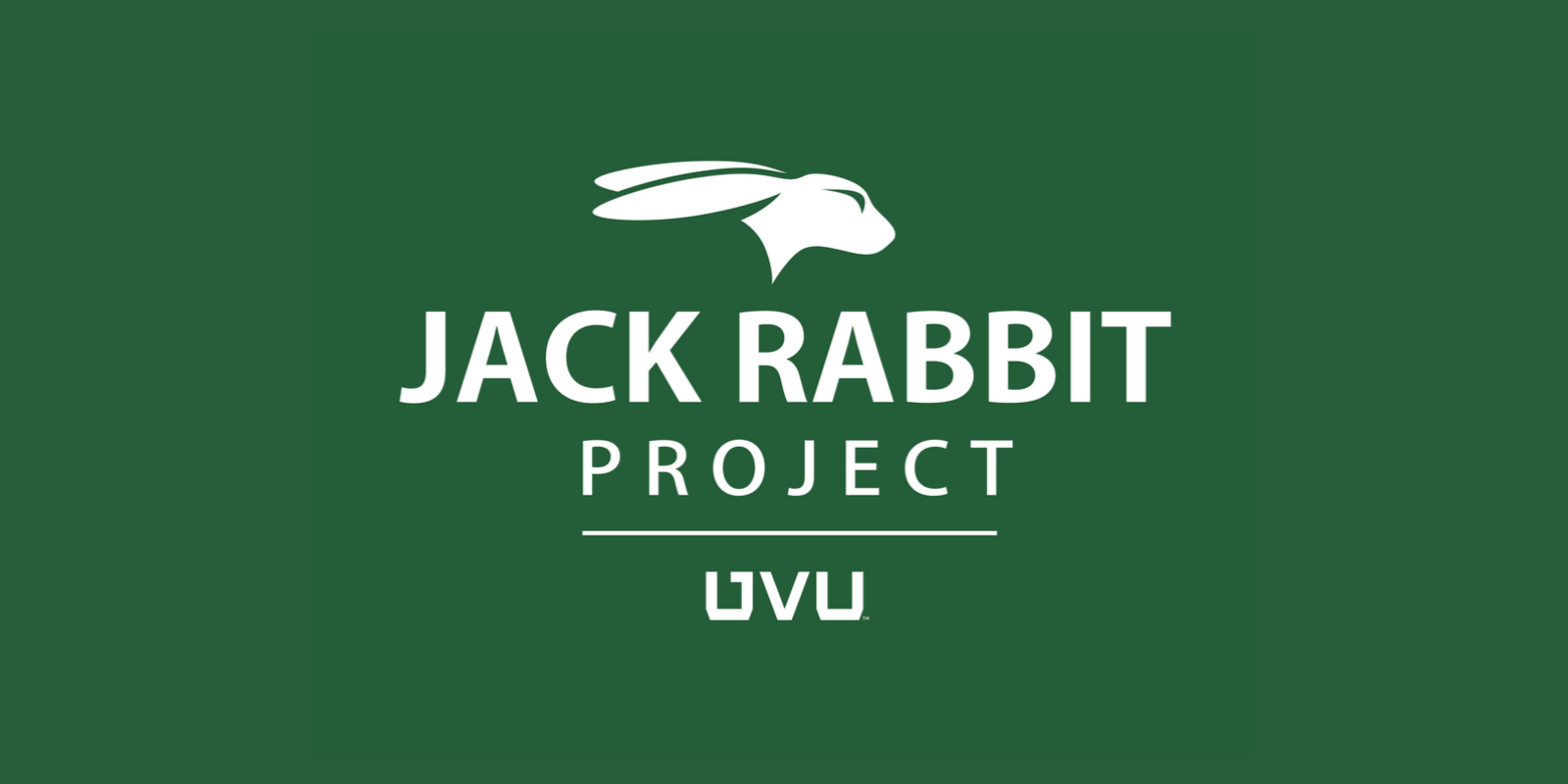 Jack Rabbit project logo with bunny head on top