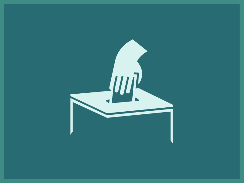 A picture with a ballot logo