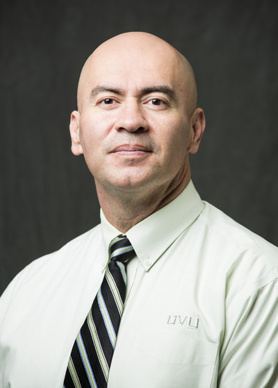 This is a picture of Axel Ramirez, a member of the faculty advisory board for Utah Valley University's Center for the Study of Ethics.