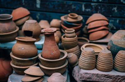 An assortment of pots.
