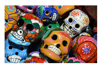 Mexican Day of the Dead Souvenirs.