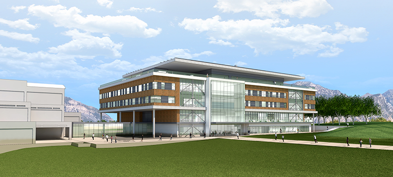 rendering of the proposed engineering building