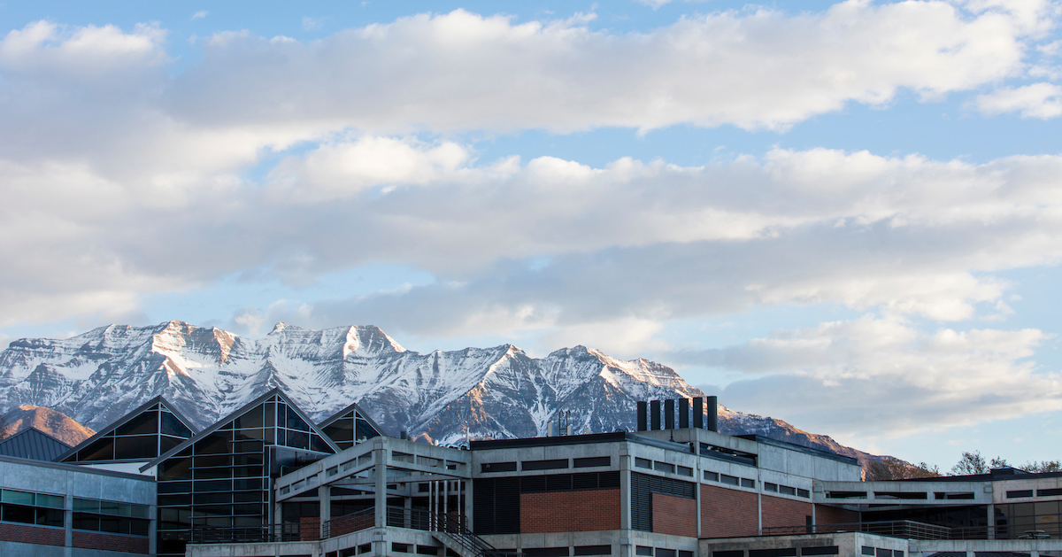 UVU with mountains in background