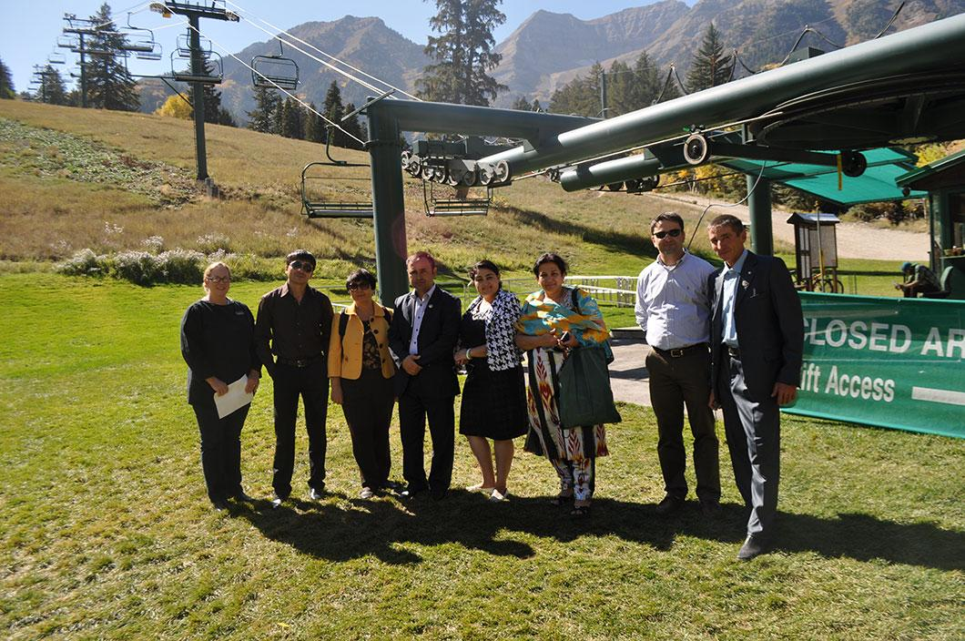 The Open World Delegates at Sundance Ski Resort