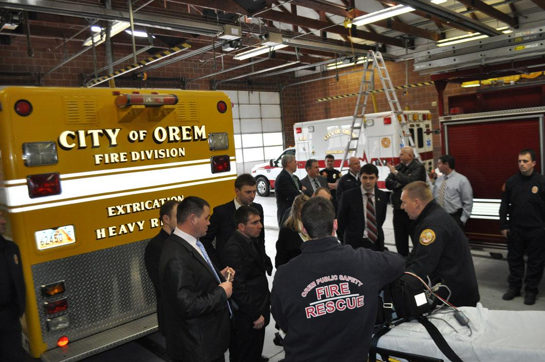 Visit to the City of Orem Fire Station