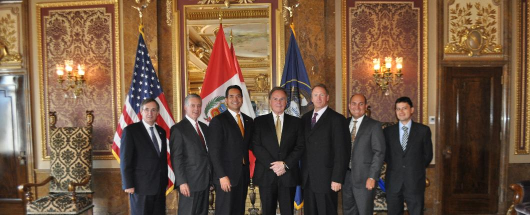 Ambassador Forsyth meets with Attorney General Reyes and Senator Mark Madsen at the Utah Capitol