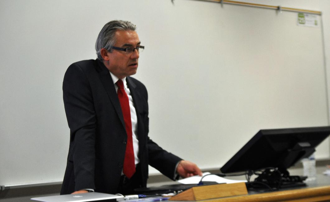 Mr. Brymora lecturing at Utah Valley University