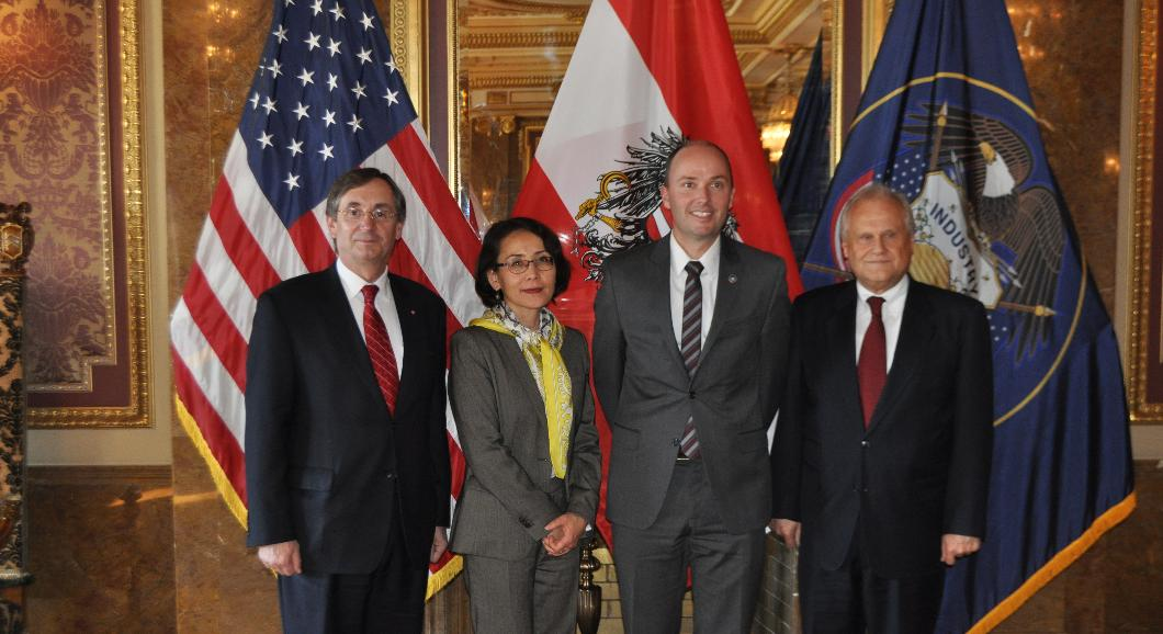 His Excellency Martin Sajdik & his wife Mrs. Tamara Otounbaeva, joined by Franz Kolb & Lt. Governor Spencer Cox