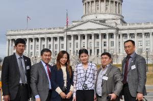 Kyrgyz delegates at state capitol