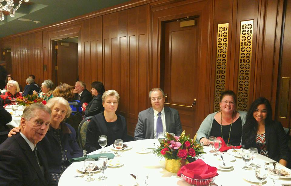 Hosting Russian Consul General Petrov and his wife at a dinner in Salt Lake City prior to attending the Christmas Concert.