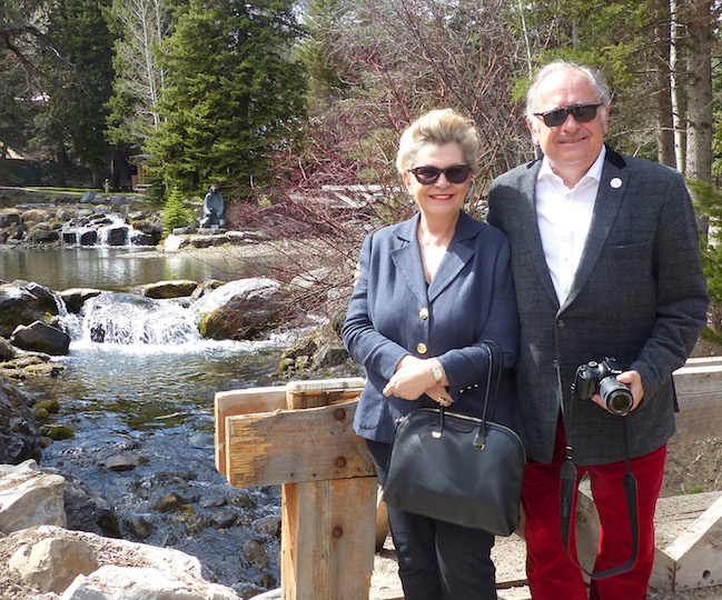 Ambassador Bogyay and her husband enjoy a quick trip up to the Sundance Resort.
