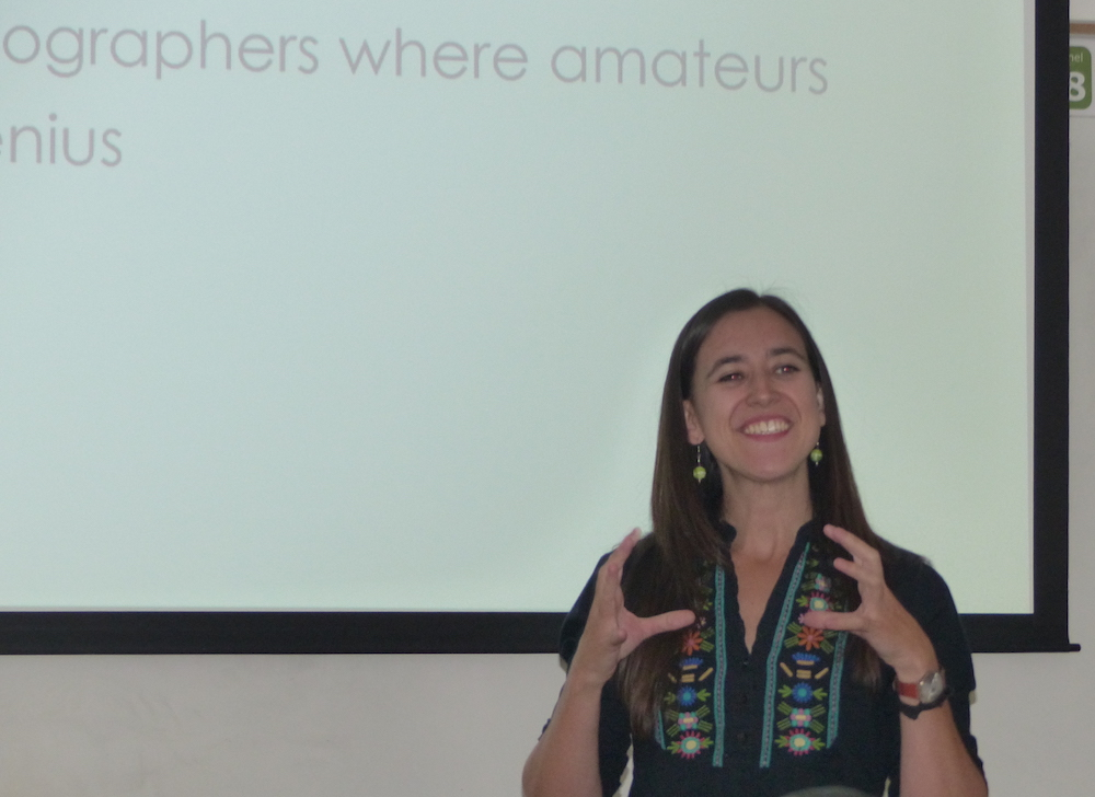 Ms. Ana Martinez giving a lecture to UVU students