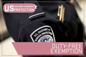 US State Department - Duty-Free Exemption. Image of a Customs Officer