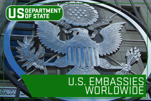 US State Department - U.S. Embassies Worldwide. Image of United States Seal