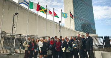 UVU Delegation at the United Nations Headquaters in NYC