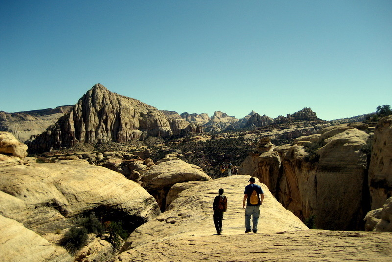 Honors Students on natural bridge in Capitol Reef NP