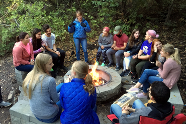 Group around a campfire