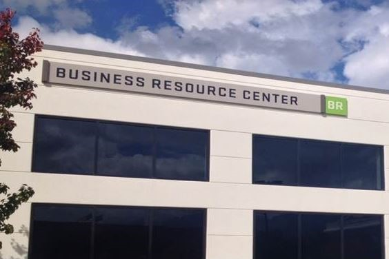 Picture of the Business Resource Center sign