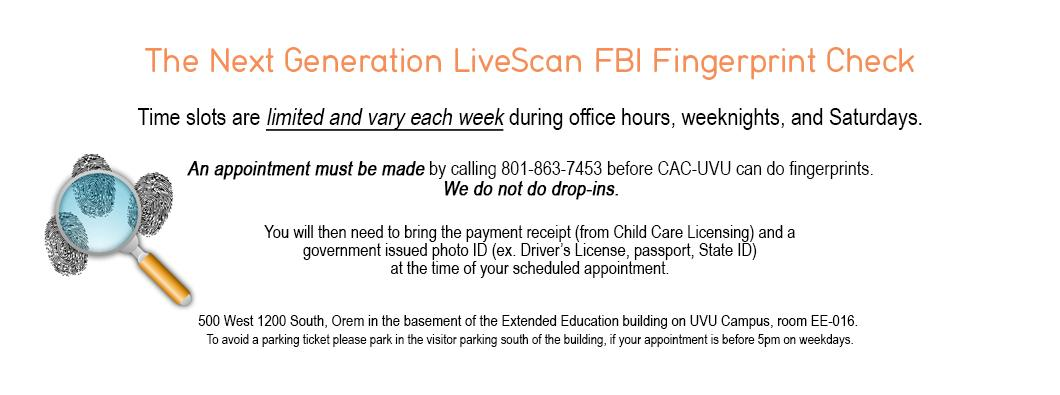 Next Generation Live Scan FBI Fingerprints