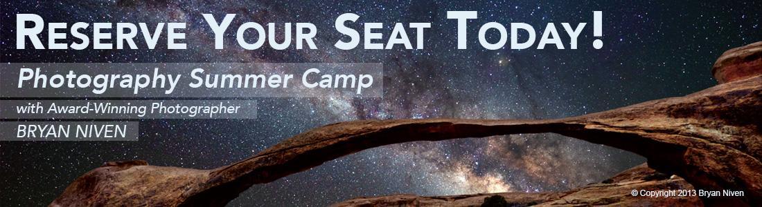 Photography Summer Camp with award-winning photographer Bryan Niven.