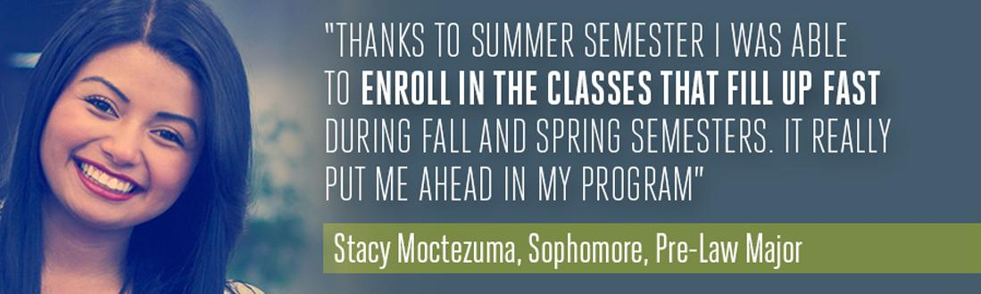 Enroll in the classes that fill up fast.