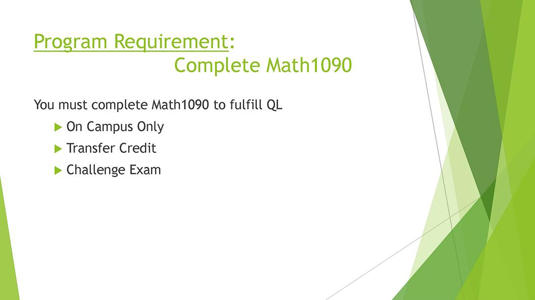 Math QL Requirement slide 08
