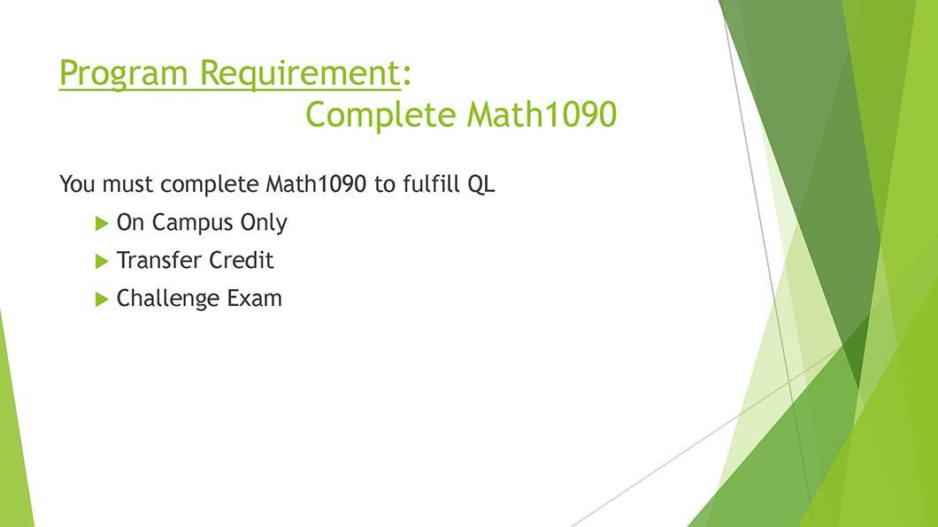 Math QL Requirement slide 08