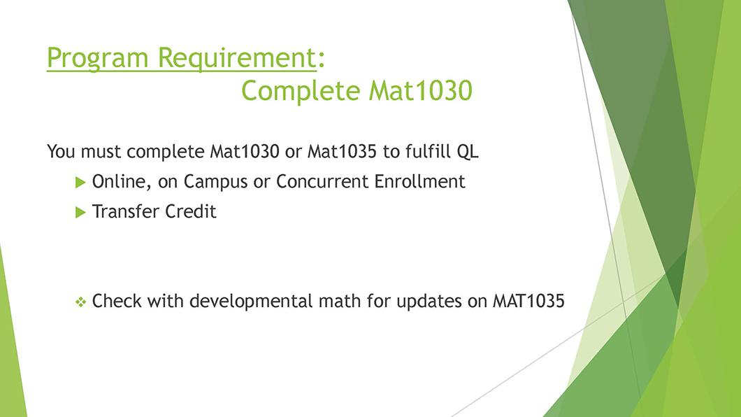 Math QL Requirement slide 05