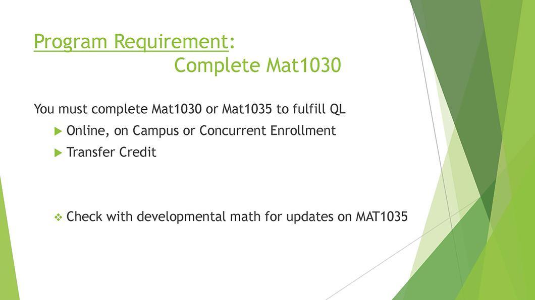Math QL Requirement slide 05