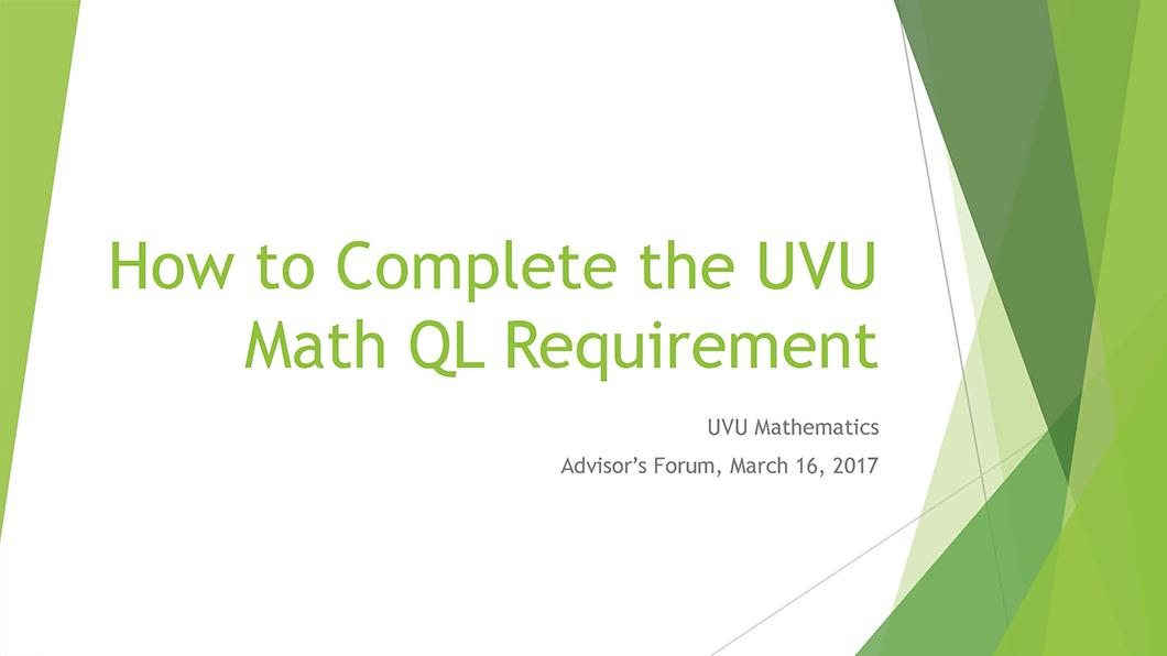 Math QL Requirement slide 01