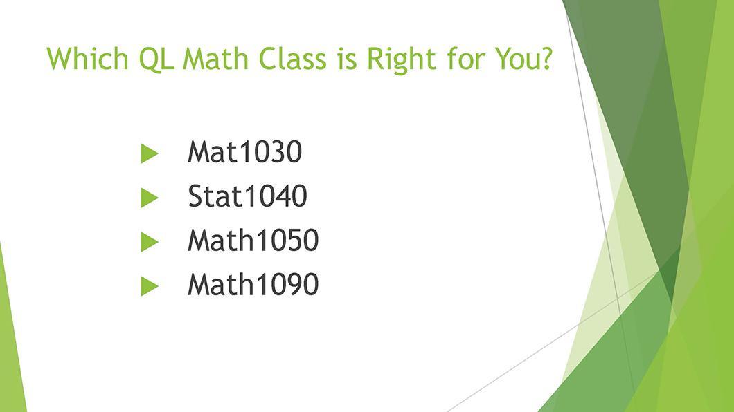 Math QL Requirement slide 03
