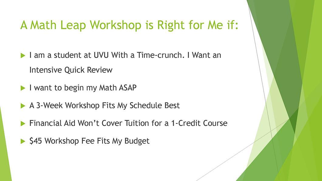 Math QL Requirement slide 15