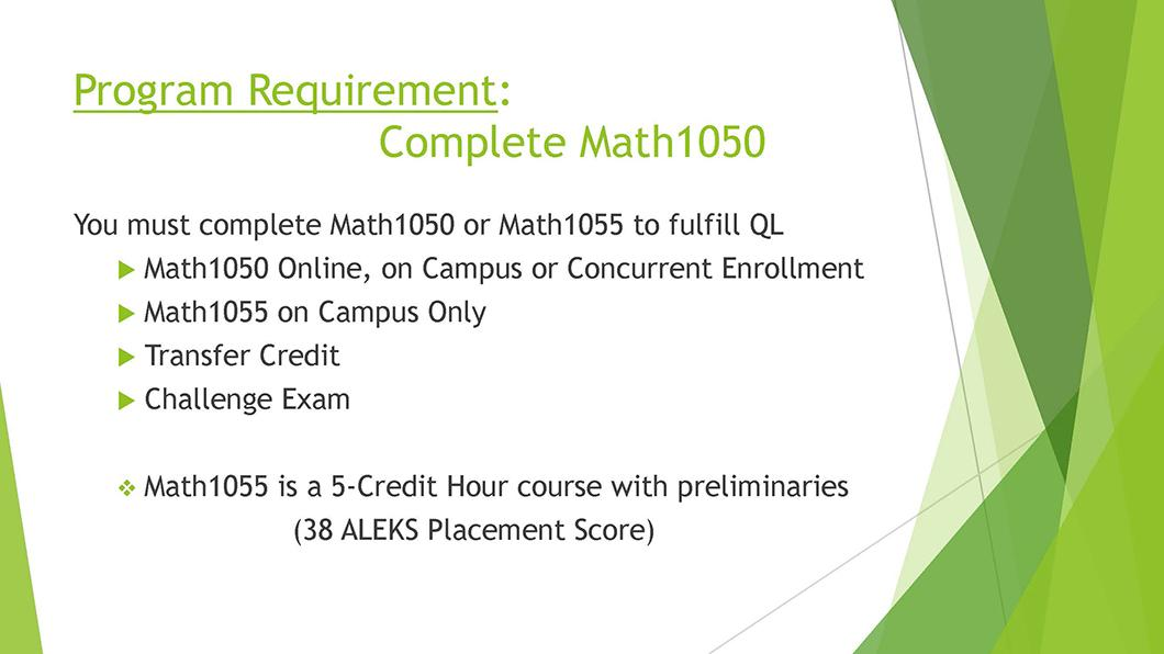 Math QL Requirement slide 07