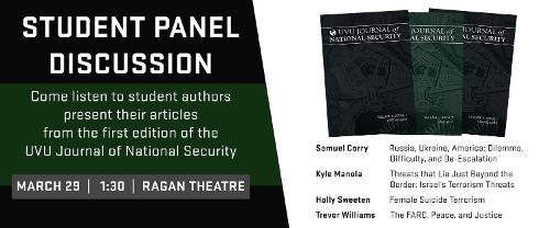 NSS Journal Student Panel Discussion