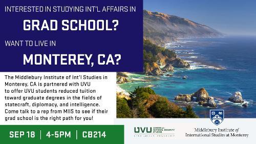 Grad School in Monterey, CA
