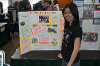 A student and her poster