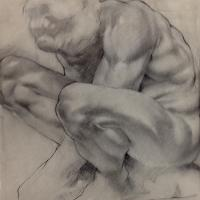 drawing of a muscular person