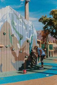 Painting Playground Wall