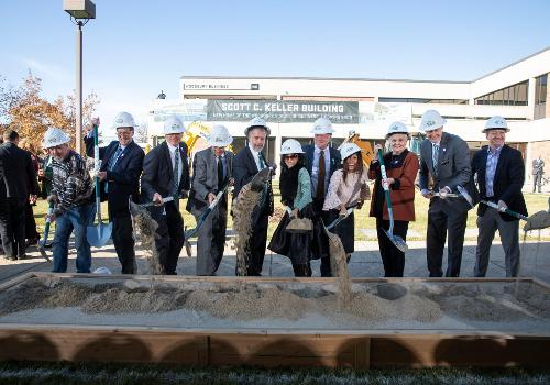 Woodbury School of Business Dean's team breaks ground