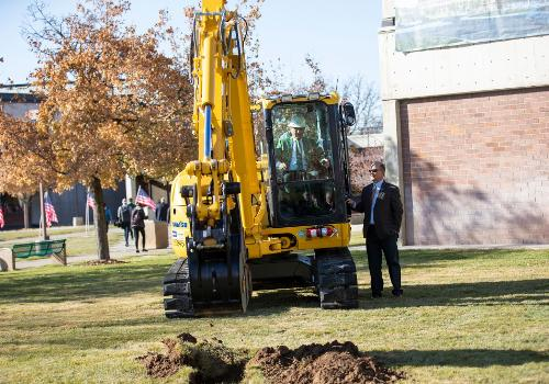 Scott Keller breaking ground
