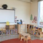 white board and play area